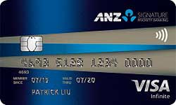 ANZ Signature Priority Banking Visa Infinite Credit Card