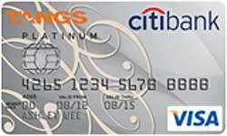 Citibank TANGS Platinum Visa Card