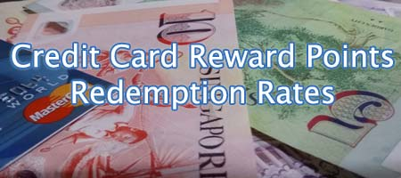 Credit Cards Reward Points Redemption Rates Comparison