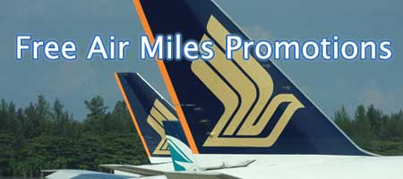 Singapore Credit Cards Signup Free KrisFlyer Air Miles Promotion Comparison