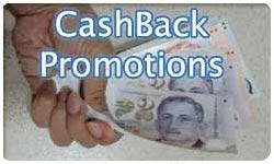 Credit Cards Signup Cashback Promotion Comparison
