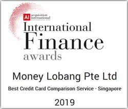 Acquisition International Finance Awards 2019 Money Lobang Best Credit Card Comparison Service Singapore