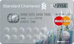 Standard Chartered Bonus$aver World MasterCard Credit Card