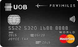 UOB PRVI Miles World MasterCard Card